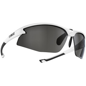 Bliz Motion+ Brille shiny white/smoke with silver mirror